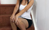 Pantyhosed 4 U Jess West Pantyhose Office Teen Dildos On The Stairs Pantyhosed 4 U