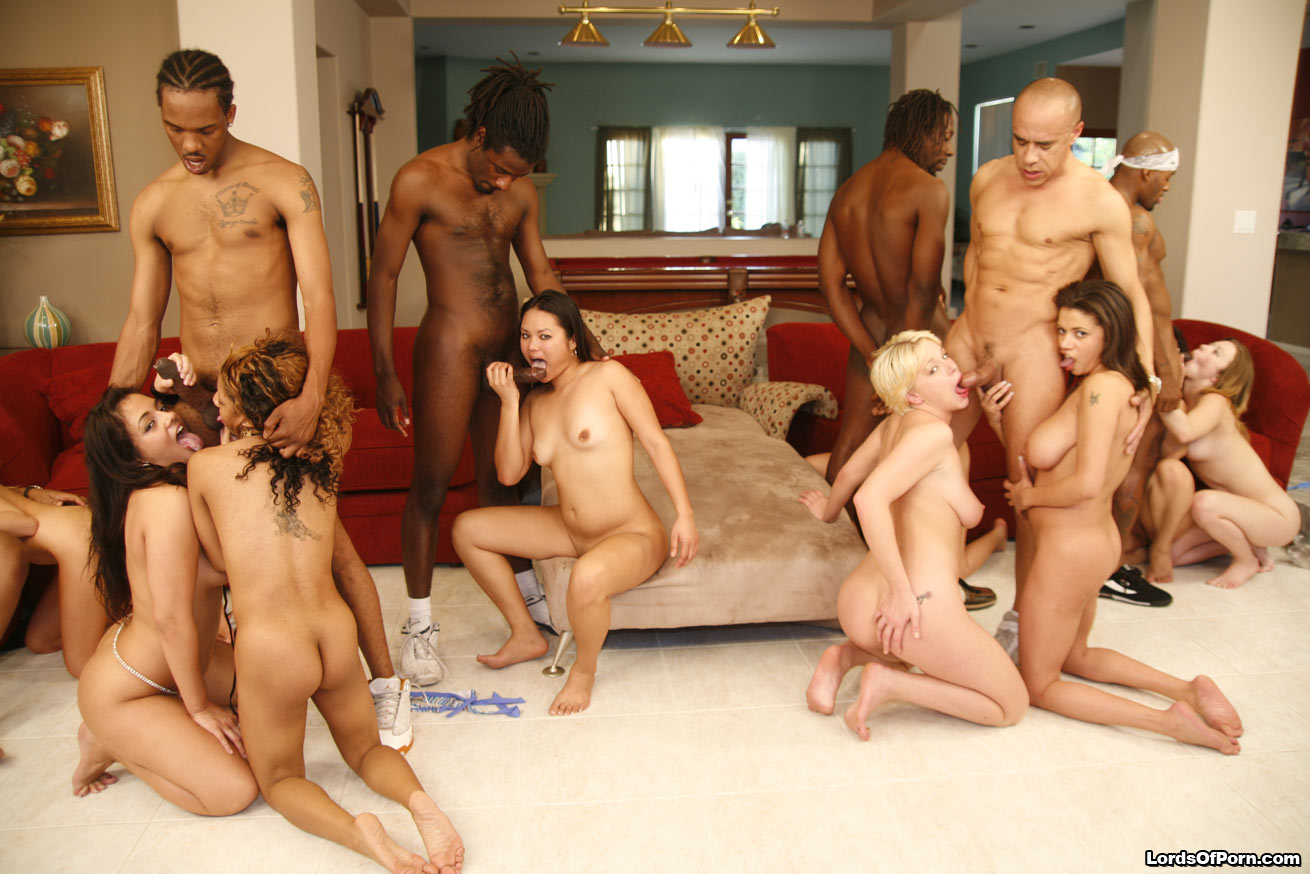 Black Girls White Guys Orgy