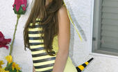 Hennessie.com Hennessie Sweet NectarCutie Dressed Up As A Bee Shows Her Tits Hennessie.com