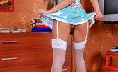 Gorgeous Nurses Blonde Nurse Jessika Does Upskirts And Plays With Dildo Gorgeous Nurses