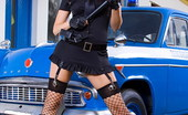 Sandra Shine Live Sandra Shine Fasten Your Set Belts As Officer Shine Gets You In Hand Cuffs Sandra Shine Live