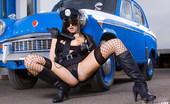 Sandra Shine Live 549758 Sandra Shine Fasten Your Set Belts As Officer Shine Gets You In Hand Cuffs Sandra Shine Live