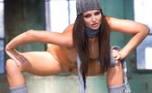 Sandra Shine Live 549766 Sandra Shine Lovely Brunette Gets Naked In A Huge Hangar Sandra Shine Live