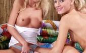 Bad Lesbian Girls Blonde Lesbian Teens Getting Wet In Mini-Pool Bad Lesbian Girls