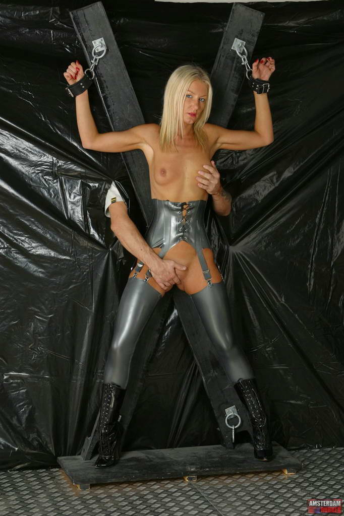 Amsterdam Rubber 550642 Silver Latex In Dungeon Amsterdam Rubber