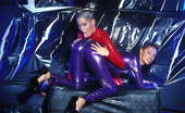 Amsterdam Rubber 550693 Kinky Sluts In Red And Purple Latex Amsterdam Rubber