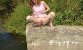 Street Piss Leggy Girl Takes A Riverside Leak Street Piss