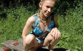 Street Piss 551157 Blonde Pees In Sexy Summer Shoes Street Piss