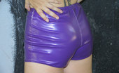 Shiny Knickers Shy Teen Next Door In Her Tight Violet Shorts Shiny Knickers
