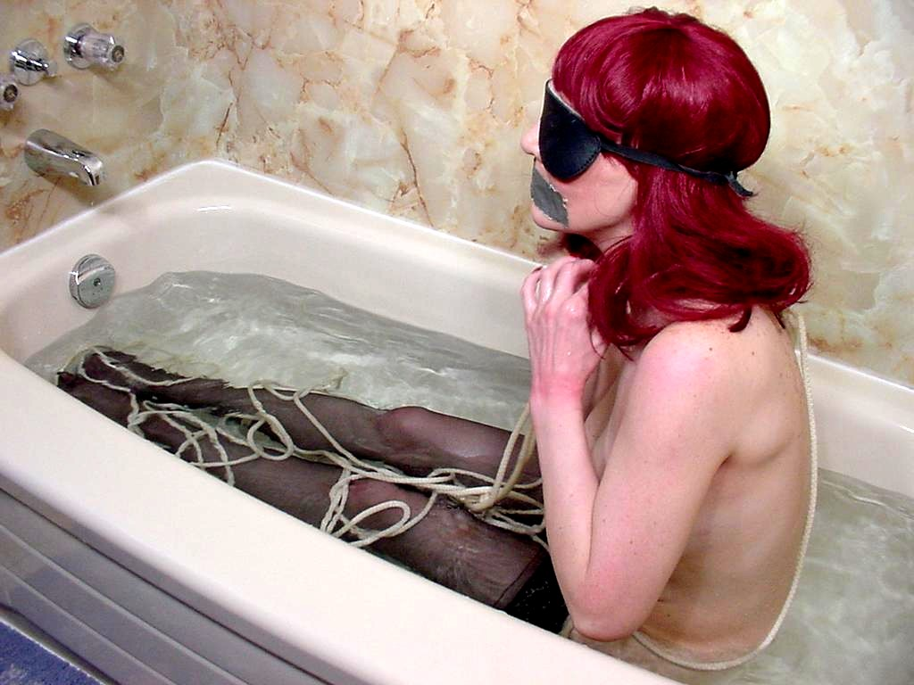Live Voyeur Porn 552335 Sassy Redhead Enjoying Some BDSM Fun In The Tub! Live Voyeur Porn