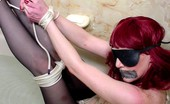 Live Voyeur Porn 552340 Kinky Redhead Gagged And Bound In The Shower! Live Voyeur Porn