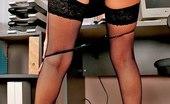 Office Pink Hot Blonde Secretary Nastya Taking Off Black Panties Office Pink