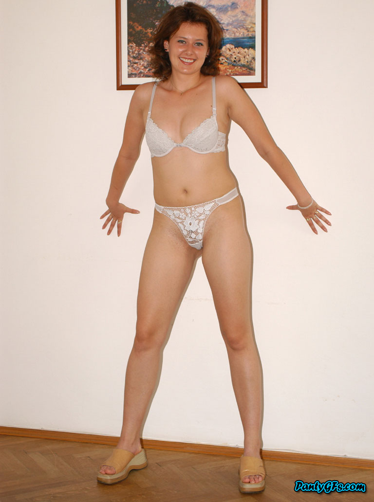 Mature in white panty and bra