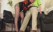 Pantyhose Screen Rosa & Gilbert Sweltering Chick In Control Top Tights Knows The Worth Of Throbbing Pole Pantyhose Screen