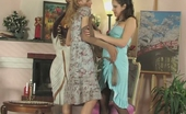 Pantyhose Screen Joanna & Dolly Raunchy Babes Getting To Lick-N-Kiss Bout Without Taking Off Their Tights Pantyhose Screen