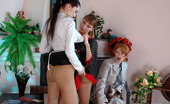 Pantyhose For Ladies Alice Hot Girls In Smooth Tights Take Turns Jumping On A Strap-On In Lesbian 3sum Pantyhose For Ladies
