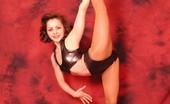 Flexi Angels Flexi Gymnast Samantha Sexy Cute Samantha In Shiny Dress Posing Flexi Flexi Angels