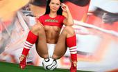 Sex Sports Club Limber Mexican Football Babe Strips And Invintingly Fingers Her Wet Twat Sex Sports Club