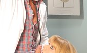 Andrea Nobili Girls Medical Care This Old Doctor Does Not Miss The Young Blonde Horny. After Having Licked Her Pussy, He Fucks Her Ass Andrea Nobili Girls