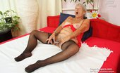 Czech Cougars Stepanka Orgasmic Ripe Stepanka Masturbating With A Big Fake Penis In Lingerie Czech Cougars