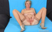 Czech Cougars Sava Sava Teasing Her Shaved Puss Plus A Thick Black Plastic Dong Czech Cougars