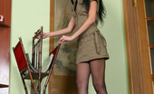 ePantyhose Land 560131 Corolina Leggy Upskirt Teaser Shows The Waistband And Boxer Briefs Of Her Pantyhose ePantyhose Land