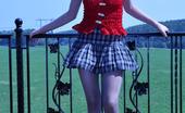 ePantyhose Land Beatrice Bold Cutie Gets To Risky Outdoor Flashing In Her Dark Grey Control Top Hose ePantyhose Land