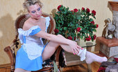 ePantyhose Land Ann Pantyhose-Addicted French Maid Worshiping And Trying On New Stylish Hosiery ePantyhose Land