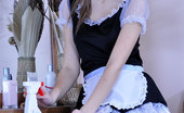 ePantyhose Land Irene Nasty French Maid Sneaks A Huge Fuck Toy And Slides It Into Her Nyloned Box ePantyhose Land