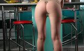 ePantyhose Land Linda Upskirt Babe Shows Off Her Barely Visible Pantyhose And Black Flowery Thong ePantyhose Land