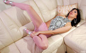 ePantyhose Land Nell Nasty Upskirt Teaser Fingers And Dildo Toys In Her Cute Pinkish Pantyhose ePantyhose Land