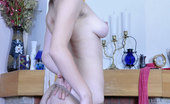 ePantyhose Land Carrie Frisky Girl In Specs Flashes Tits While Trying On Fashion Crotchless Hose ePantyhose Land