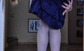 ePantyhose Land 560714 Katharine Nerdy Girl Freaks Out Flashing Her Booty And Bushy Pussy Thru Fashion Hose ePantyhose Land