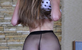 ePantyhose Land Juliet Pretty Girl In Rare Back Seam Tights Naughtily Flashes Her Pussy And Tits ePantyhose Land
