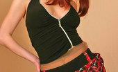 ePantyhose Land Barbara Upskirt Redhead Babe Fondling Her Delicious Pink Through Her Sexy Pantyhose ePantyhose Land