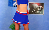 ePantyhose Land Sibylla Sporty Cheerleader In Flesh-Colored Pantyhose Pulling Up Her Flying Skirt ePantyhose Land
