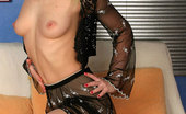 ePantyhose Land Bridget Sultry Chick In See-Through Outfit And Flesh-Colored Nylons Posing On Sofa ePantyhose Land