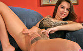 ePantyhose Land Elsie Passionate Pantyhosed Gal In Sexy Lingerie Moving Aside Her Little Panties ePantyhose Land