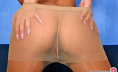 ePantyhose Land Rebecca Luscious Chick Exposing Her Sexy Long Legs Clad In Flesh-Colored Pantyhose ePantyhose Land