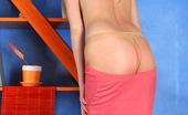 ePantyhose Land Edna Cute Blond Gal Showing Her Yummy Belly Before Licking Sheer Nylon Pantyhose ePantyhose Land