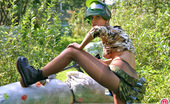 ePantyhose Land Liloo Hot Chick In Sexy Pantyhose Craving For Victory While Playing Paint Ball ePantyhose Land