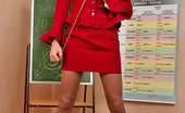 ePantyhose Land Lily Hot Teacher In Smooth Tights Thinking Up Various Dirty Games With A Pointer ePantyhose Land