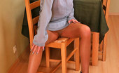 ePantyhose Land Dominica Redhead Cutie In Flesh-Colored Pantyhose Fondling Her Pussy With Pink Dildo ePantyhose Land