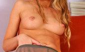 ePantyhose Land Mathilda Seductive Chick In Nylon Pantyhose Undressing And Showing Her Hard Nipples ePantyhose Land