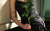 ePantyhose Land Gwendolen Cutie Fondling Her Legs With Beautiful Rose Without Taking Off Her Nylons ePantyhose Land