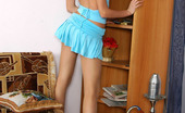 ePantyhose Land Dennis Red Hot Chick In Nylon Pantyhose Brings Herself Pleasure While Undressing ePantyhose Land