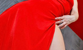 ePantyhose Land Flossie Pantyhosed Chick In Tempting Red Dress Eagerly Fingering Her Yummy Pussy ePantyhose Land