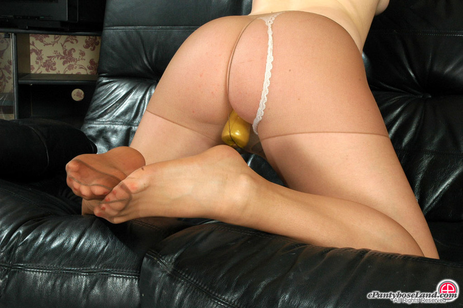 Upskirts skin colored pantyhose