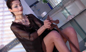 ePantyhose Land Emmie Extremely Sexy Babe Stuffing Soft Silky Pantyhose Into Her Insatiable Pussy ePantyhose Land