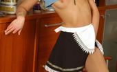 ePantyhose Land Keegan Bouncy French Maid In Nylon Pantyhose Tickling Her Pussy Under Short Skirt ePantyhose Land